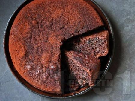 Еврейски шоколадов сладкиш с орехи (тип брауни) - снимка на рецептата